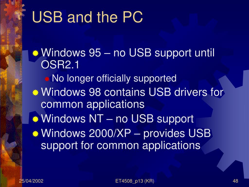 USB and the PC