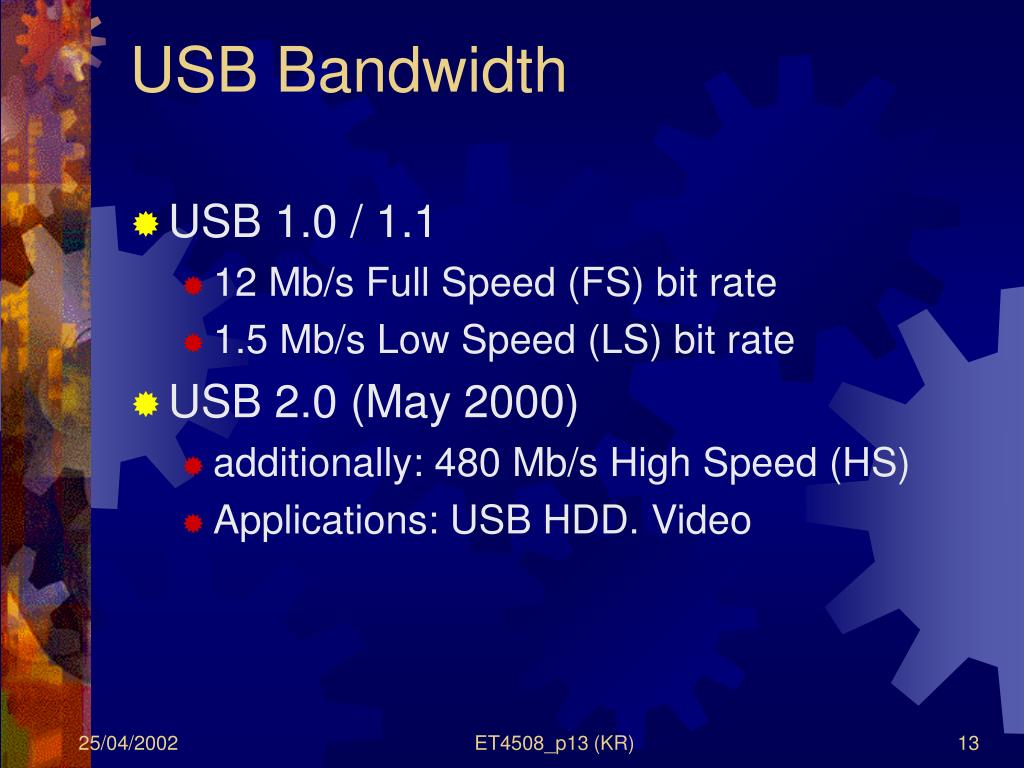 USB Bandwidth