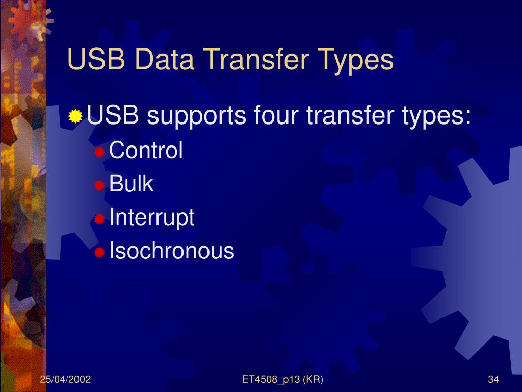 USB Data Transfer Types