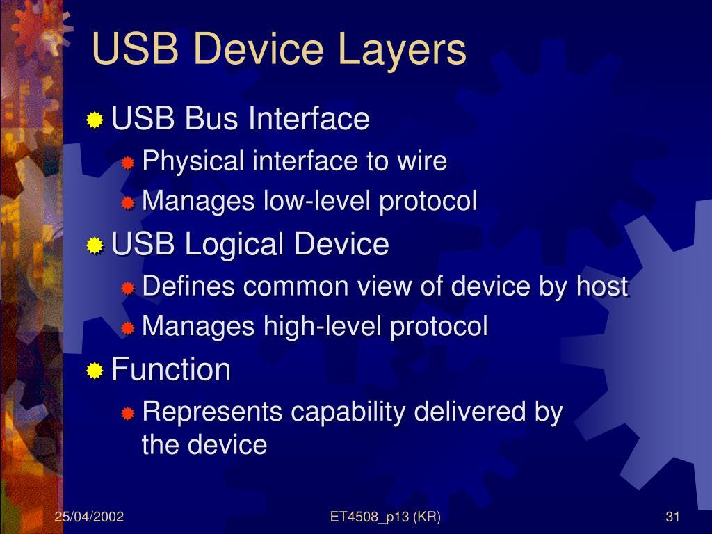 USB Device Layers