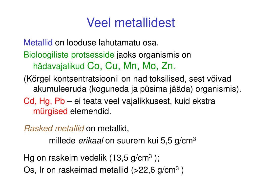Veel metallidest