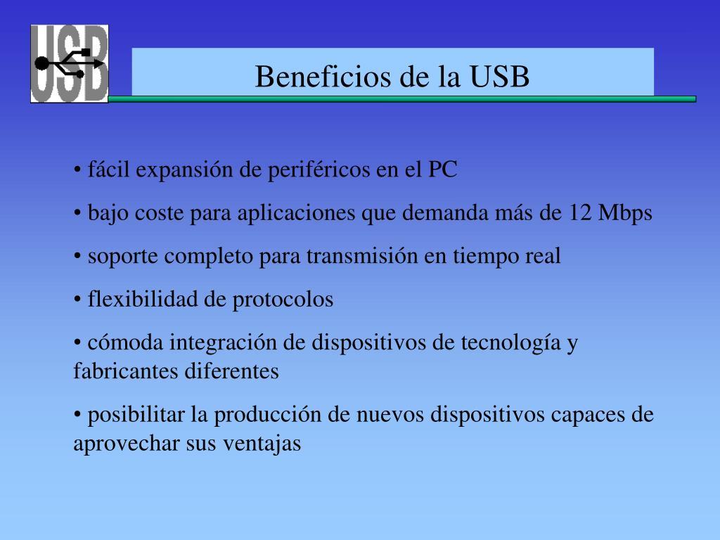 Beneficios de la USB