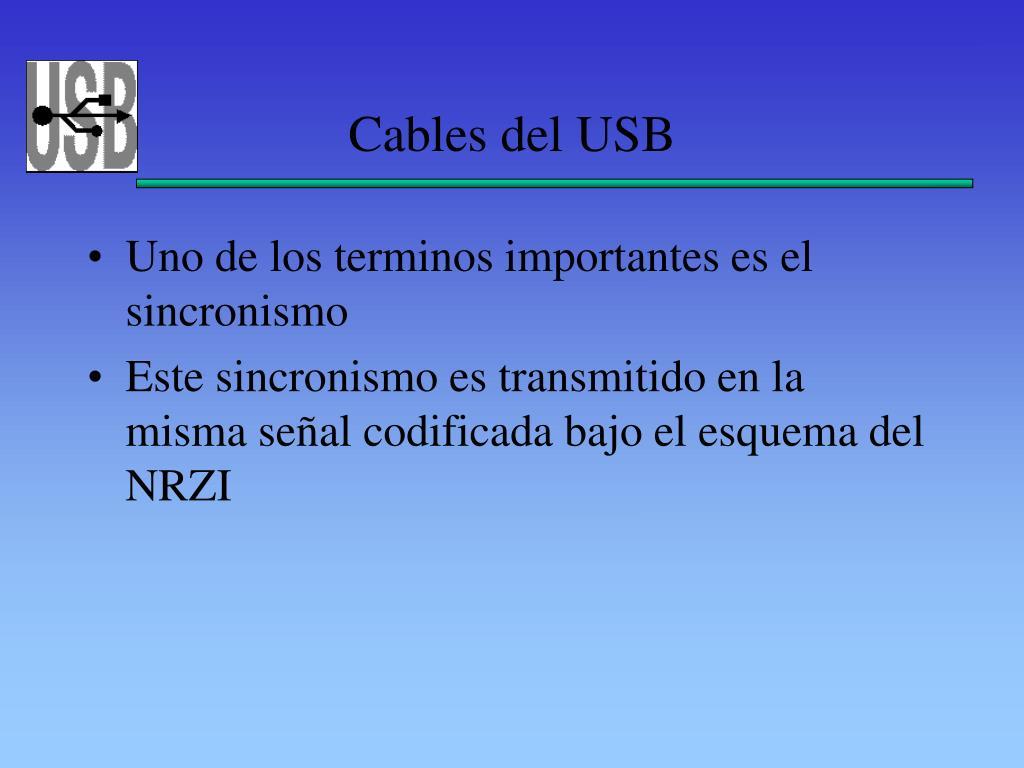 Cables del USB