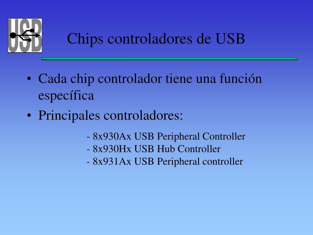Chips controladores de USB