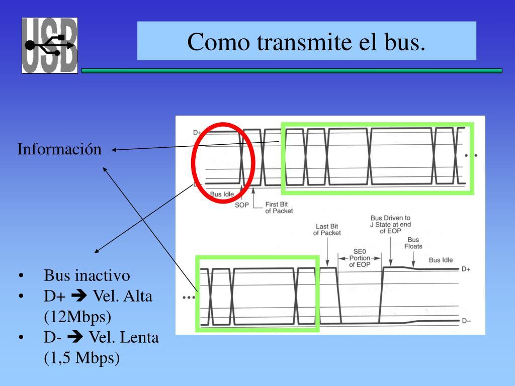 Como transmite el bus.