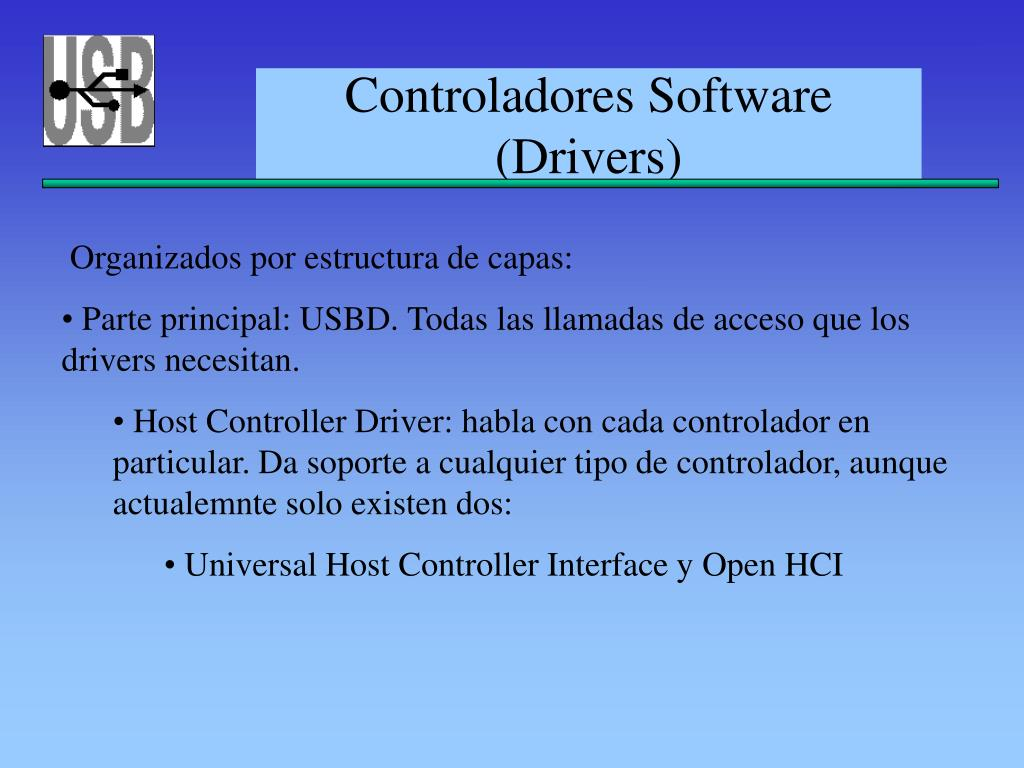 Controladores Software (Drivers)