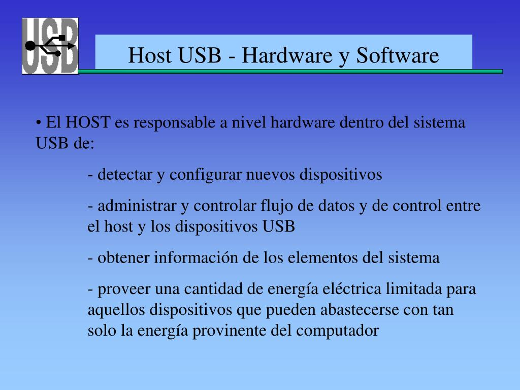 Host USB - Hardware y Software