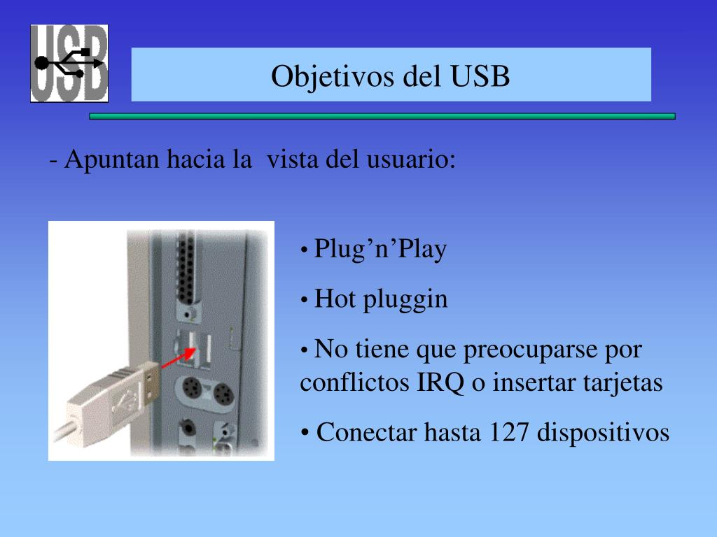 Objetivos del USB