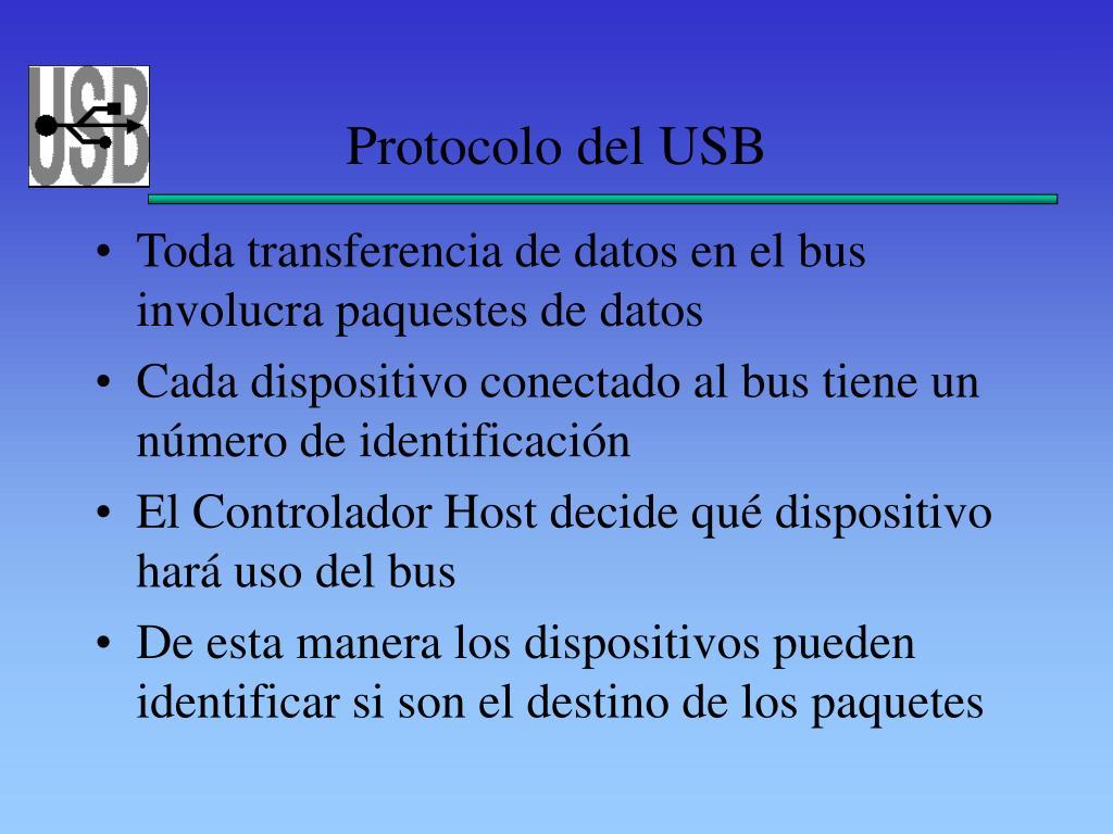Protocolo del USB