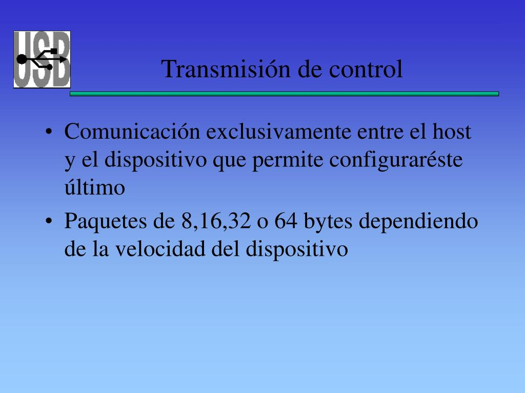 Transmisión de control