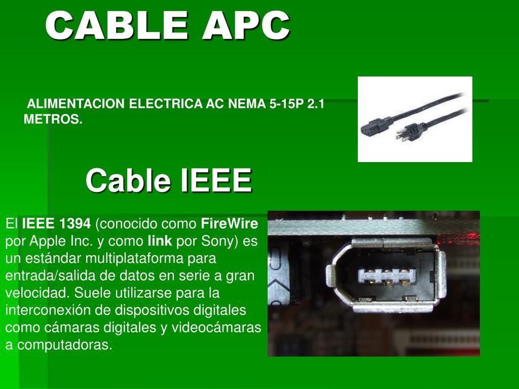 ALIMENTACION ELECTRICA AC NEMA 5-15P 2.1 METROS.