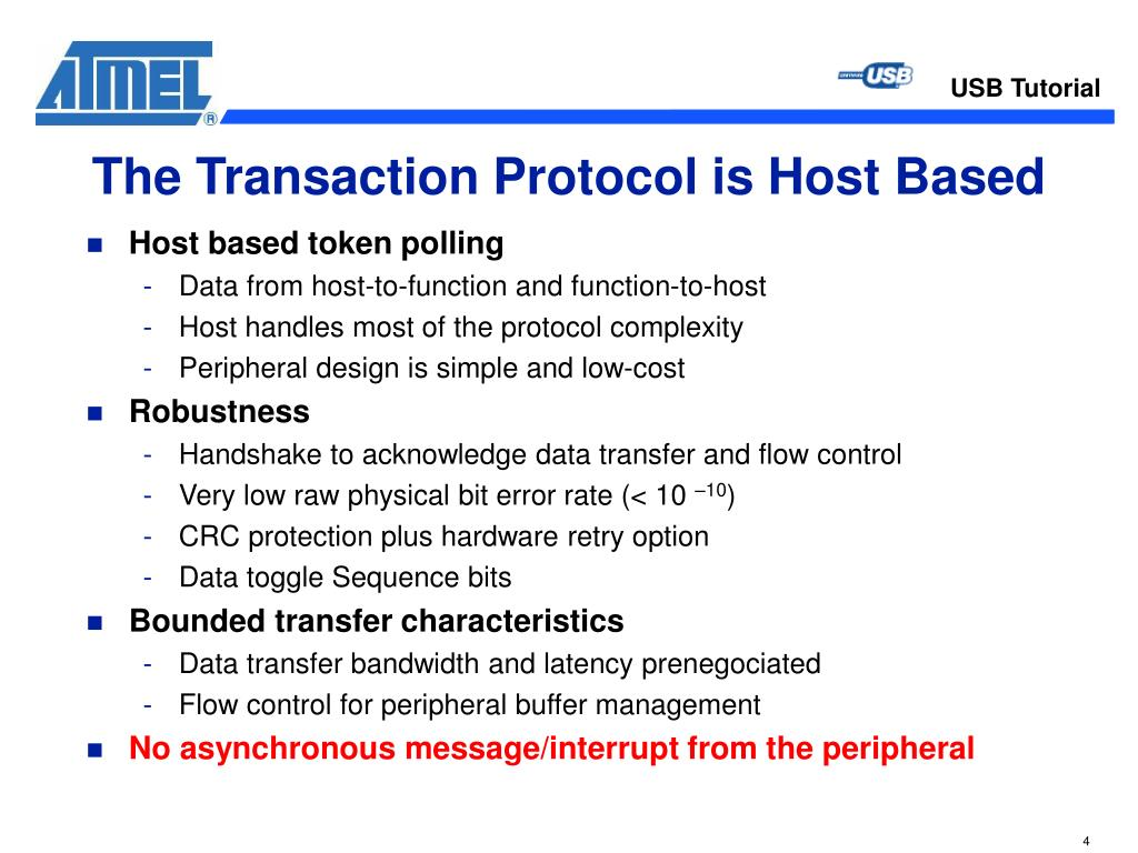 The Transaction Protocol is Host Based