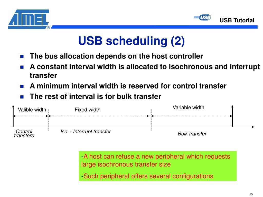 USB scheduling (2)