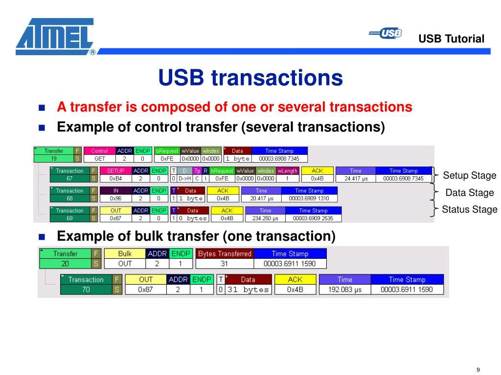 USB transactions