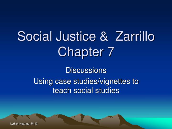 Social justice zarrillo chapter 7