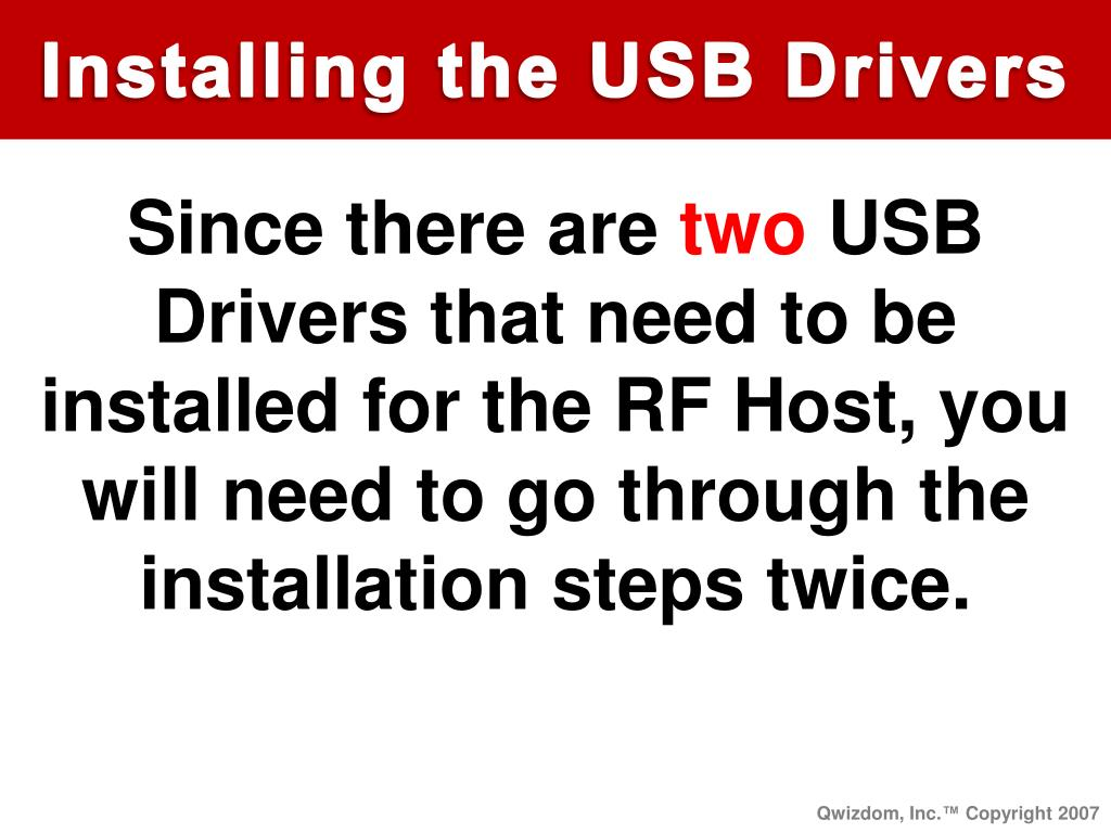 Installing the USB Drivers