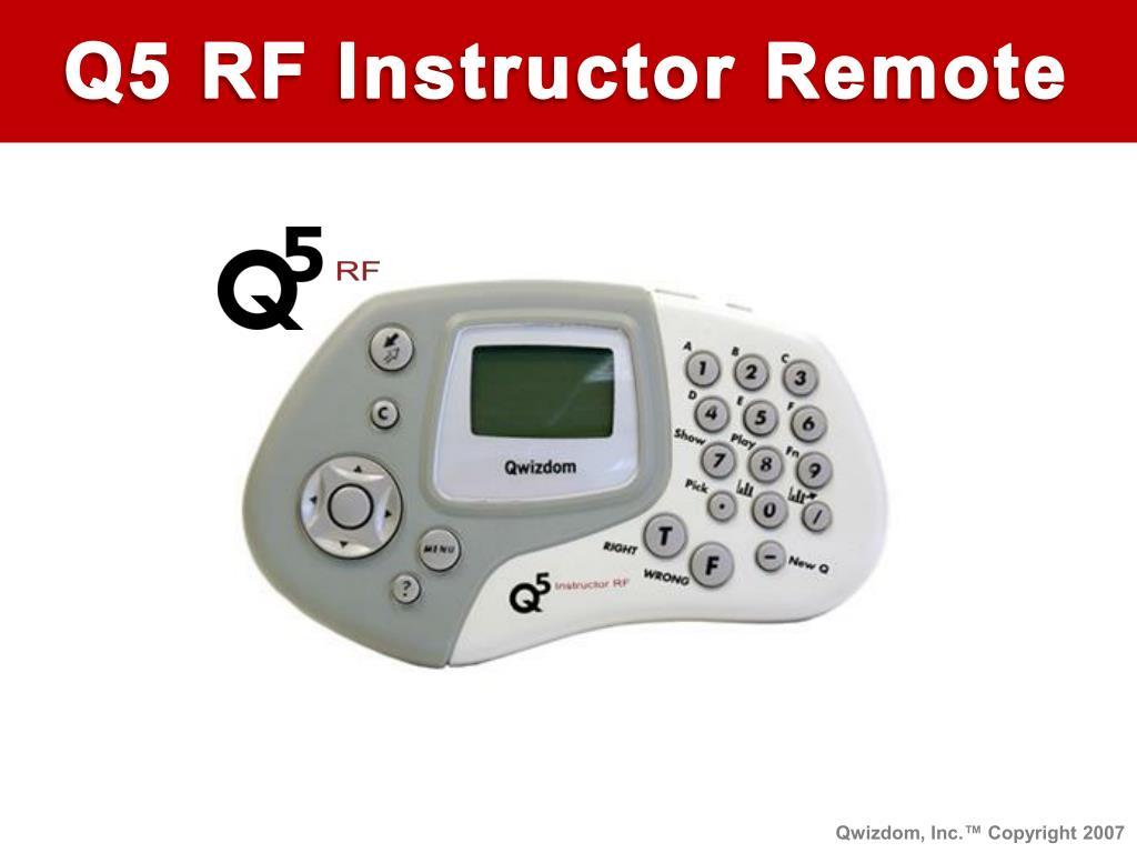 Q5 RF Instructor Remote