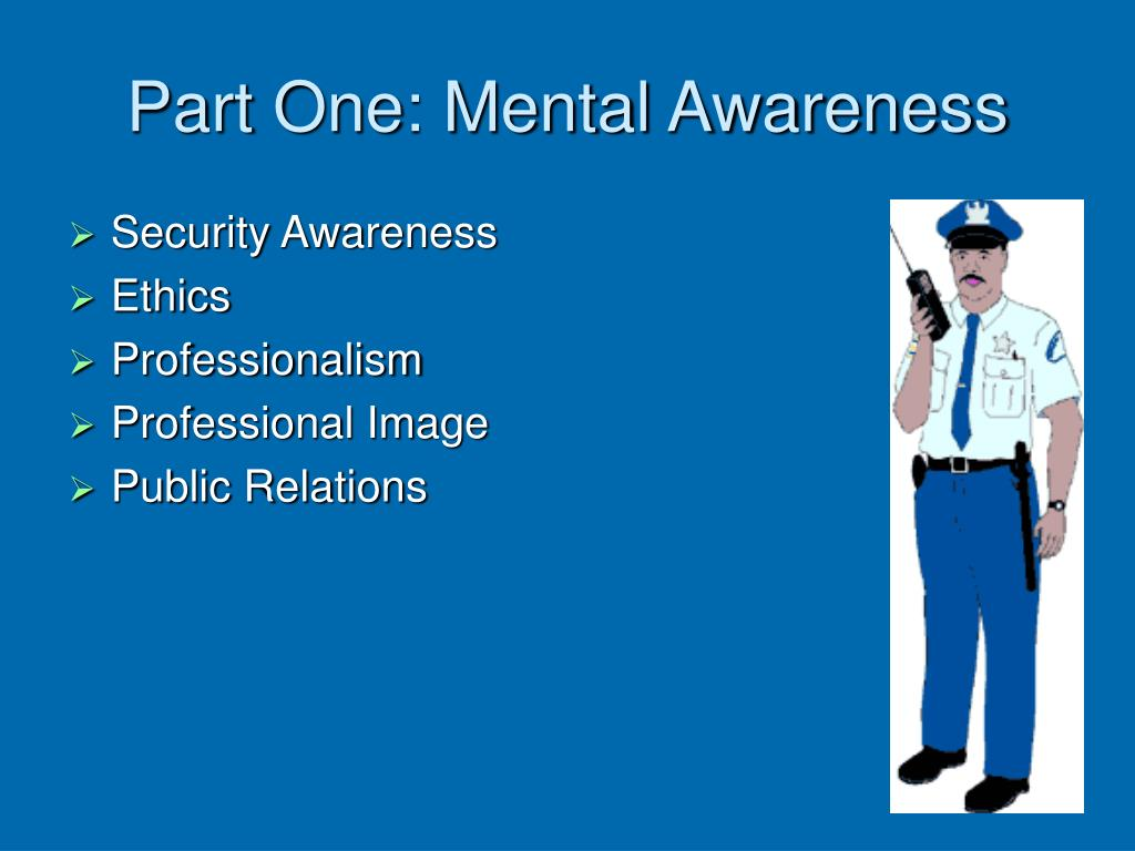 Part One: Mental Awareness