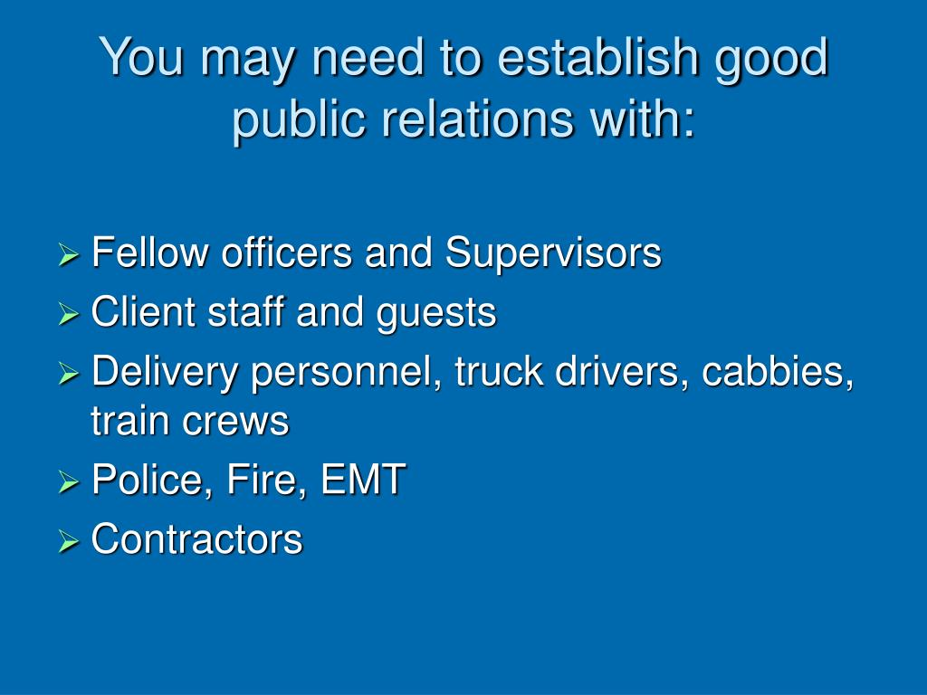 how to be a good public relations officer pdf