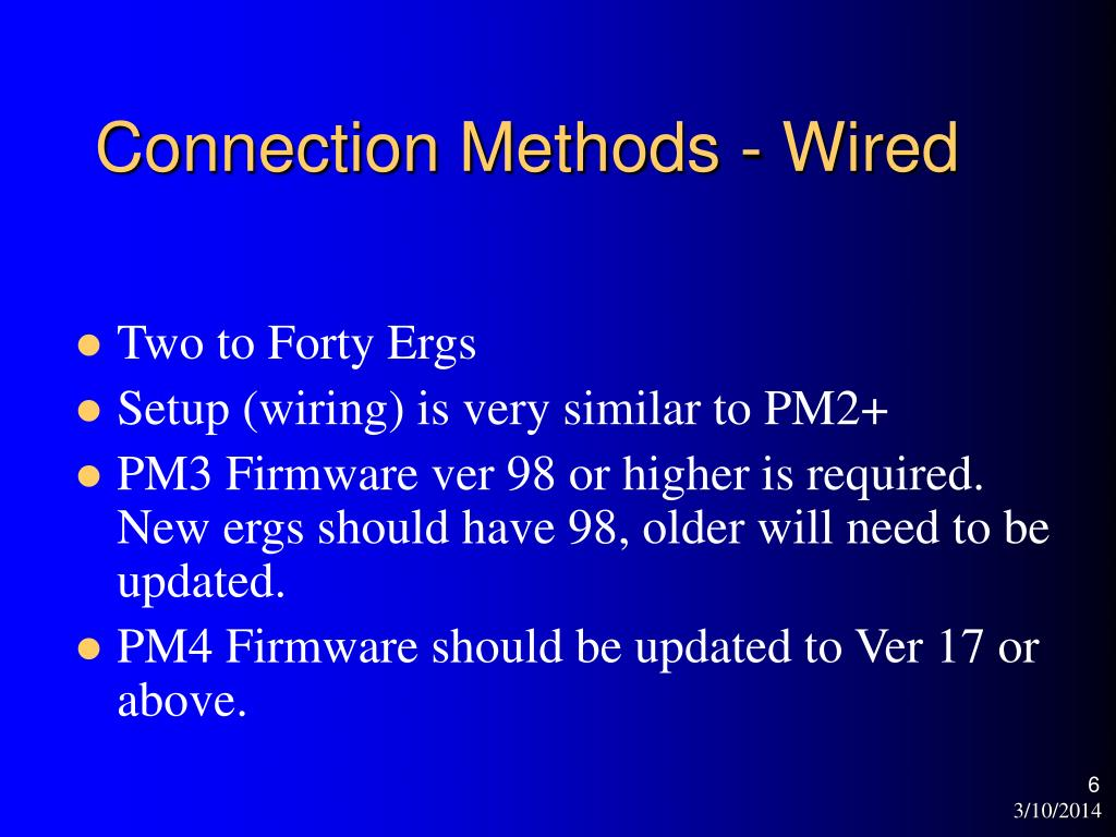 Connection Methods - Wired