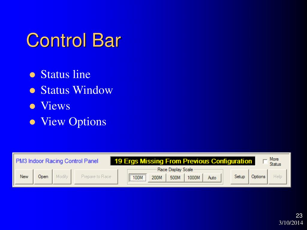 Control Bar