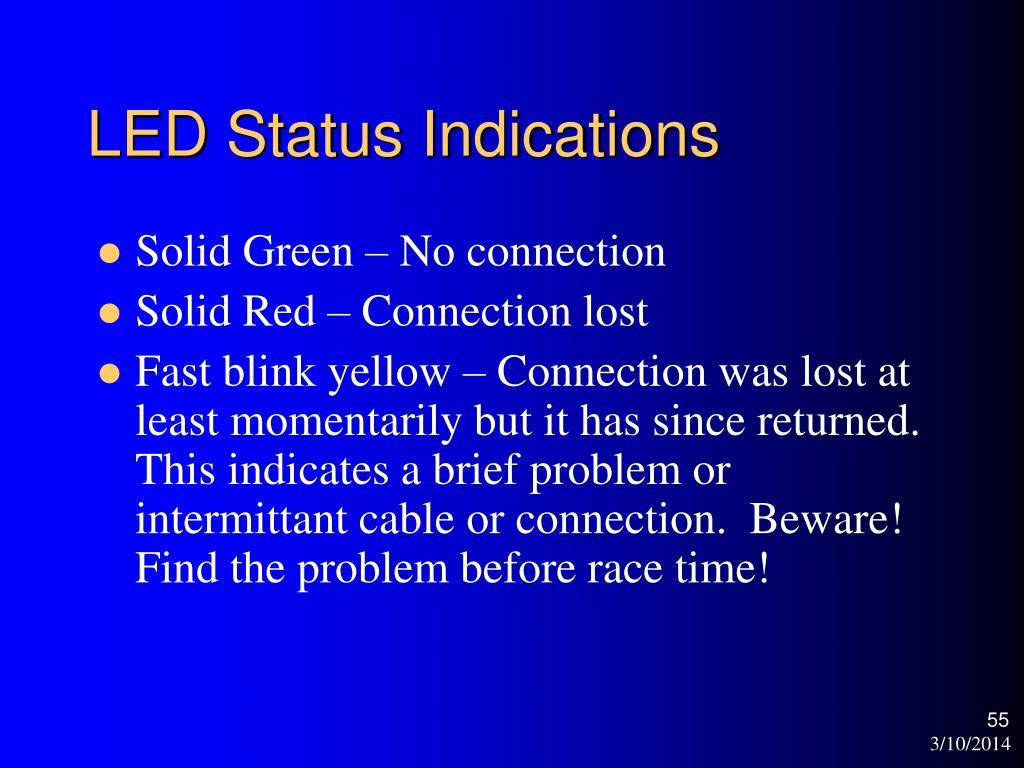 LED Status Indications