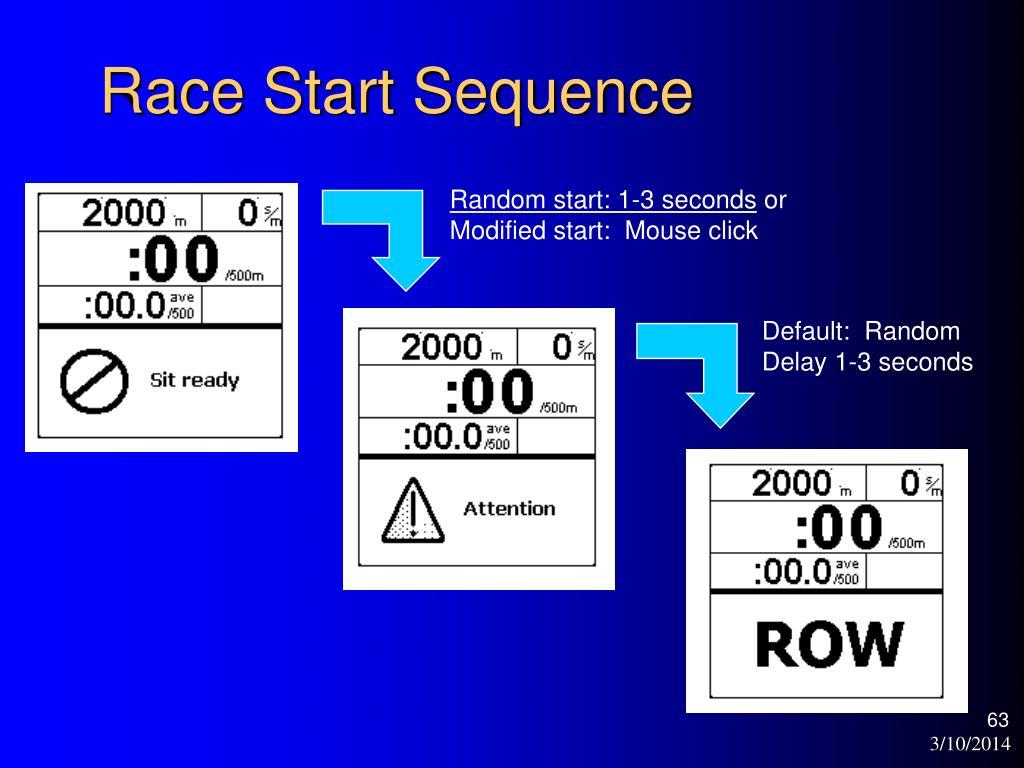 Race Start Sequence