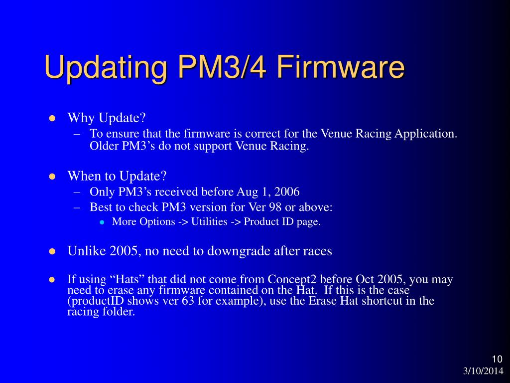 Updating PM3/4 Firmware
