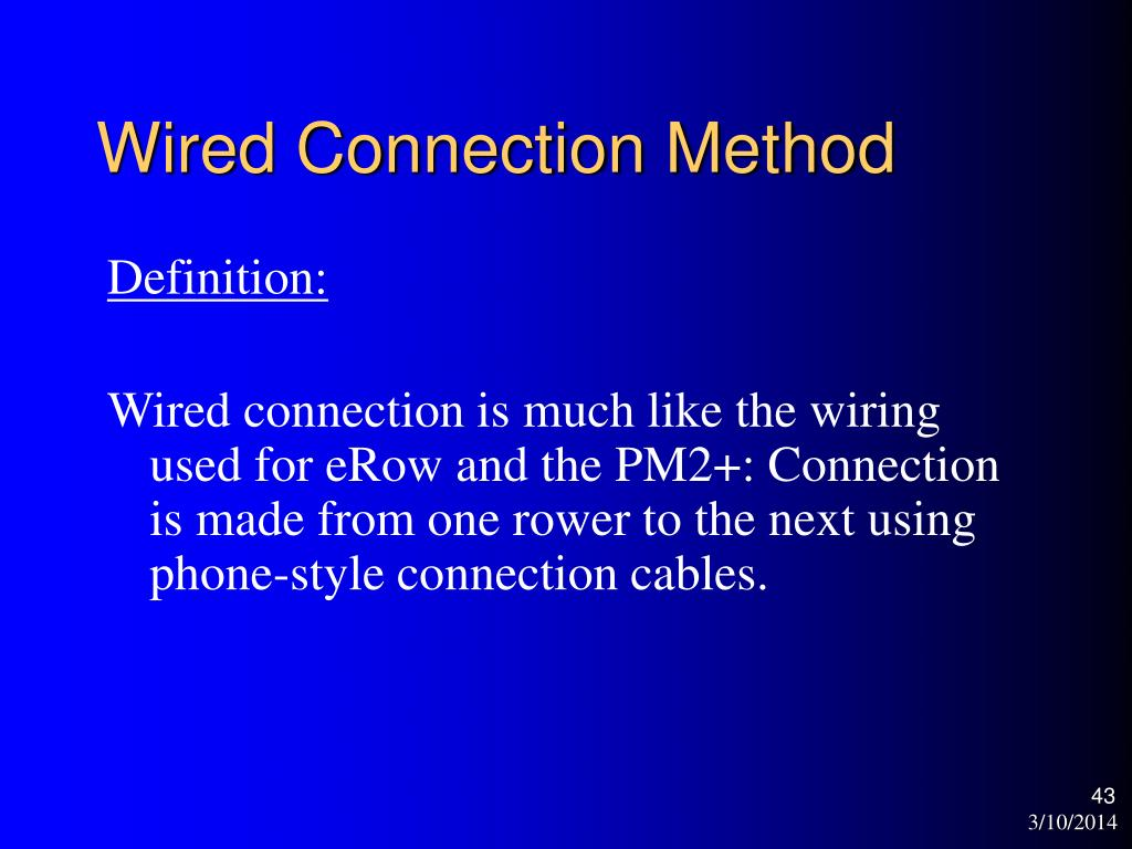 Wired Connection Method