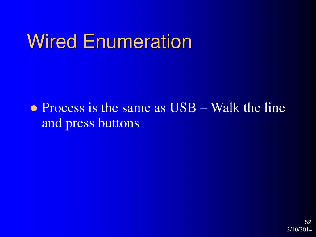 Wired Enumeration