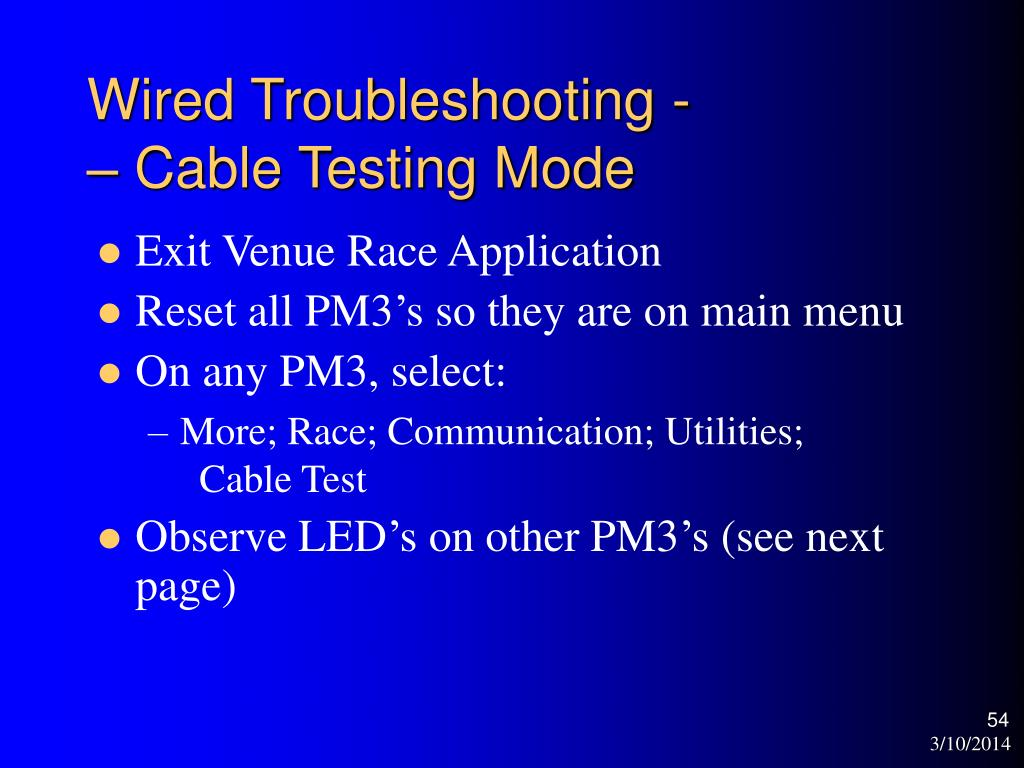 Wired Troubleshooting -
