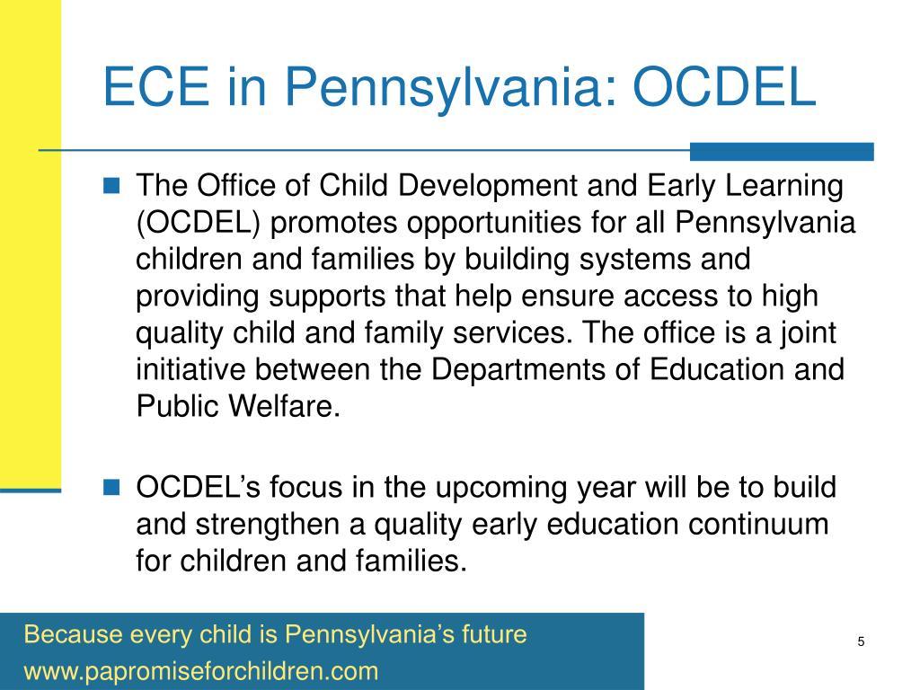 ECE in Pennsylvania: OCDEL