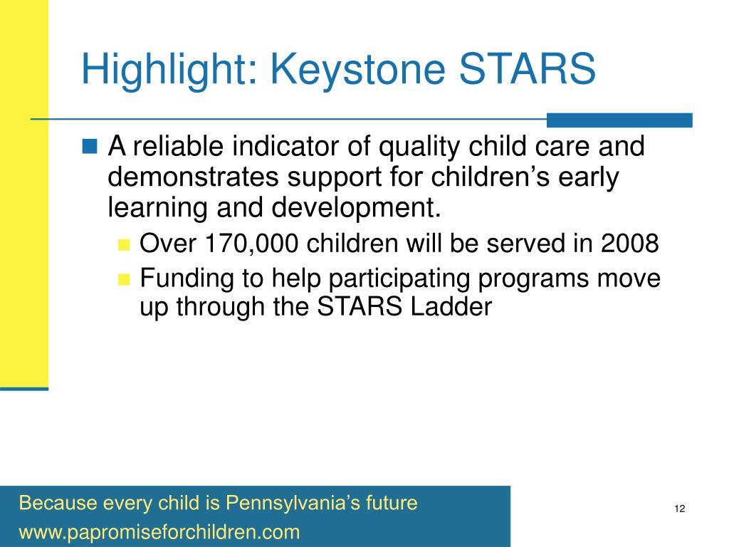 Highlight: Keystone STARS