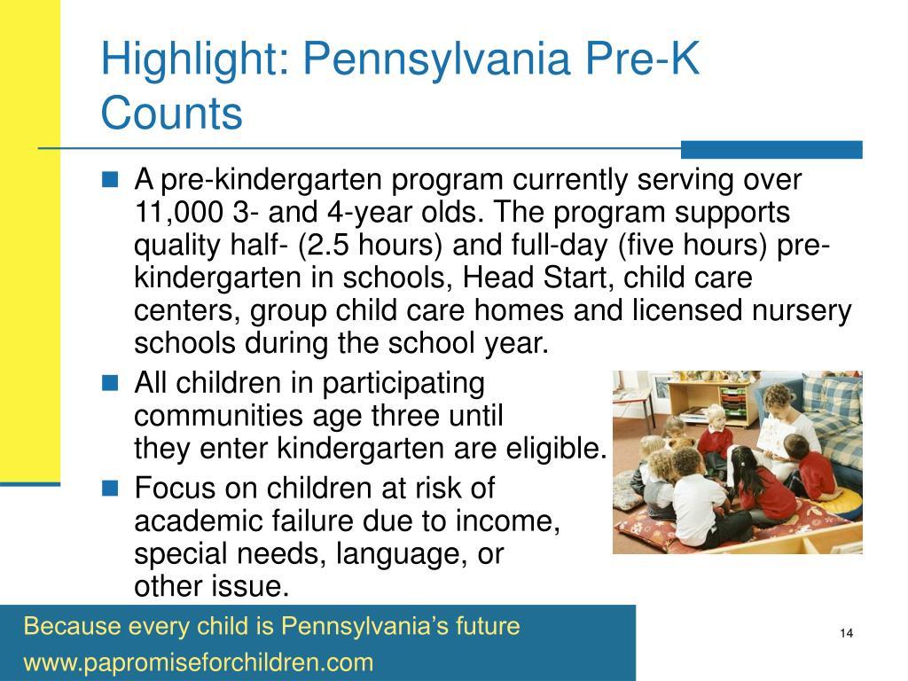 Highlight: Pennsylvania Pre-K Counts