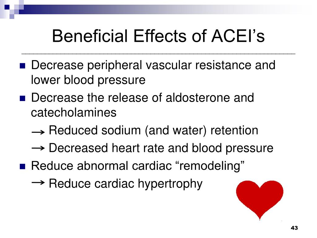 Beneficial Effects of ACEI's