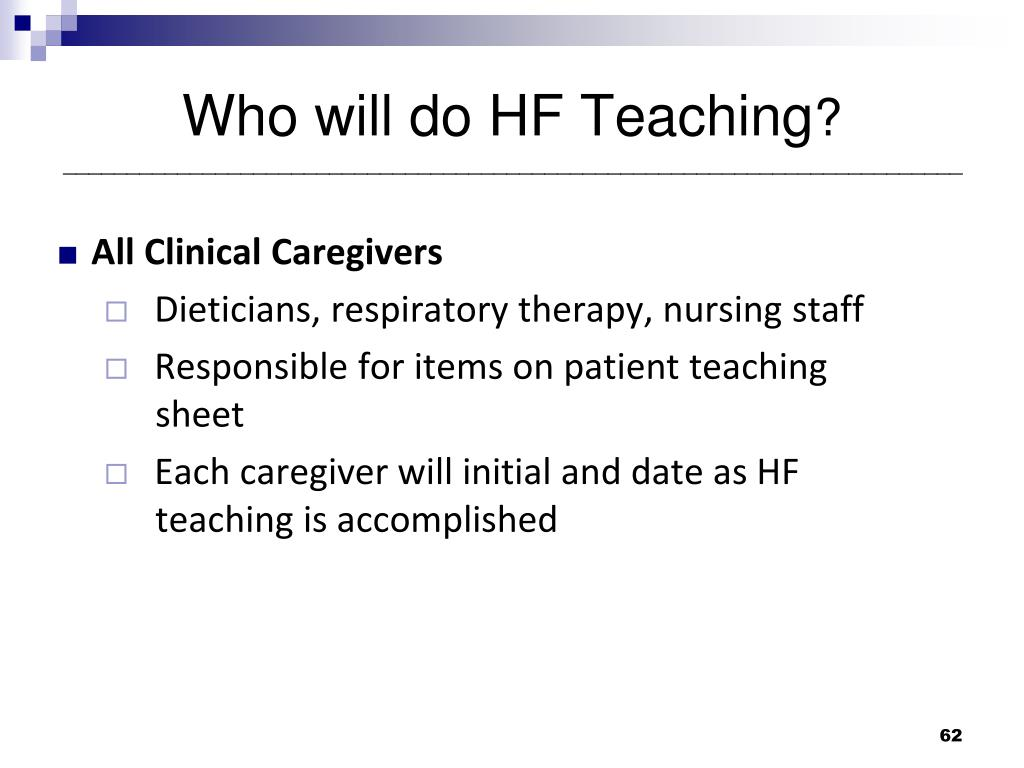 Who will do HF Teaching