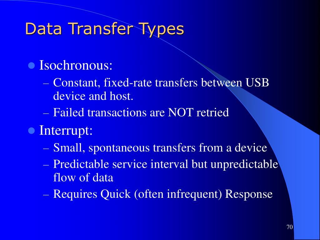 Data Transfer Types