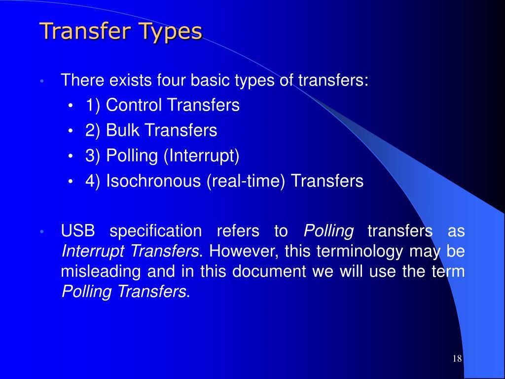 Transfer Types