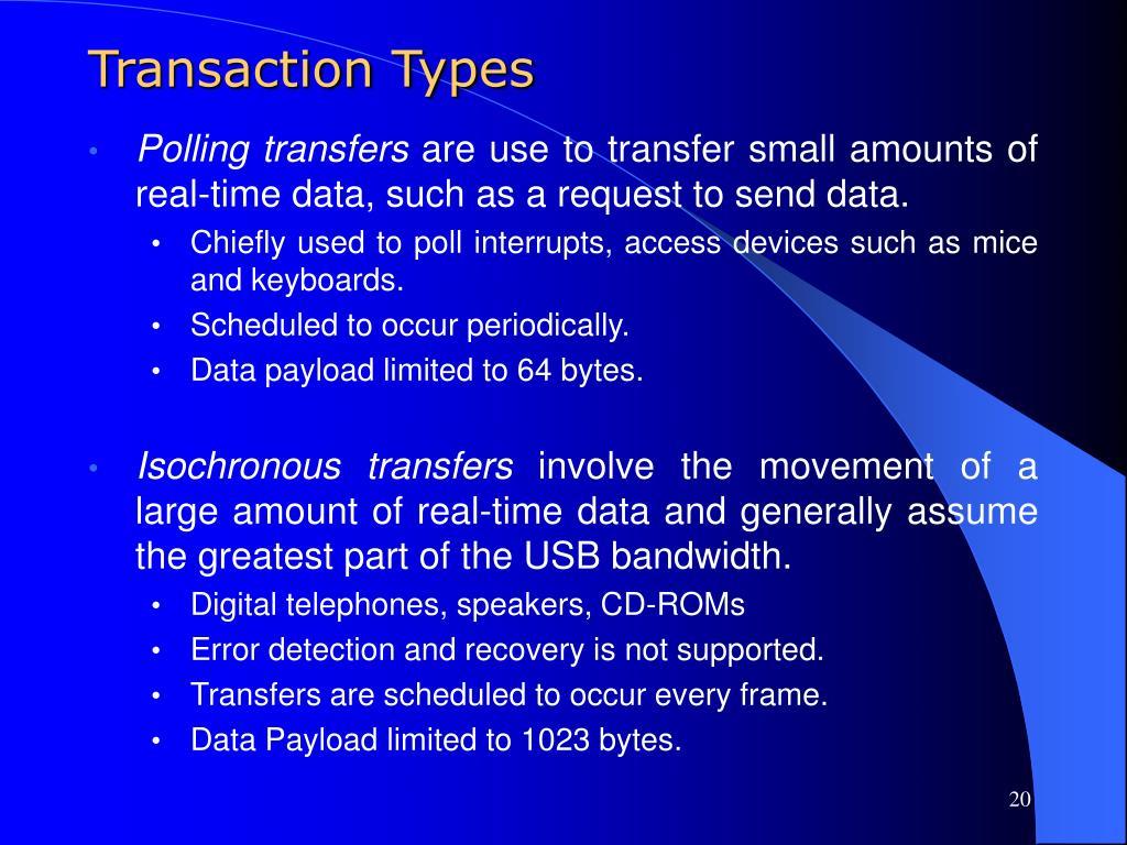 Transaction Types