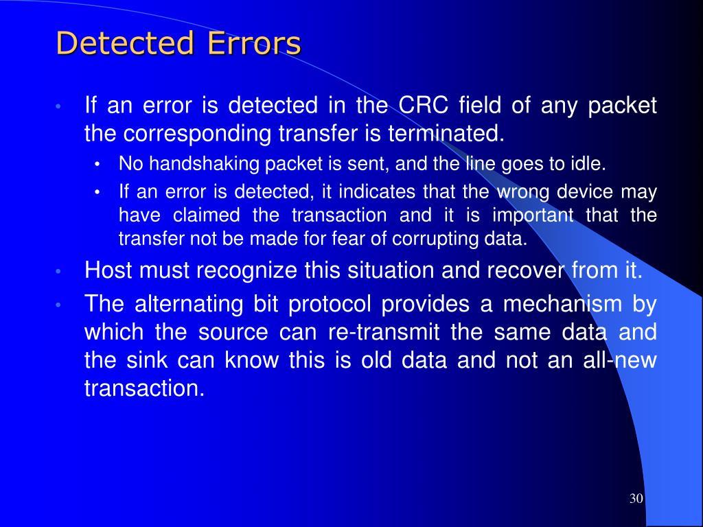 Detected Errors