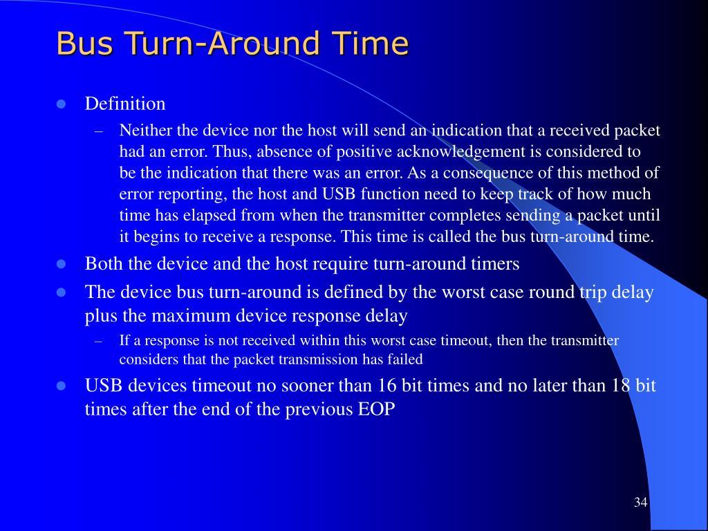 Bus Turn-Around Time