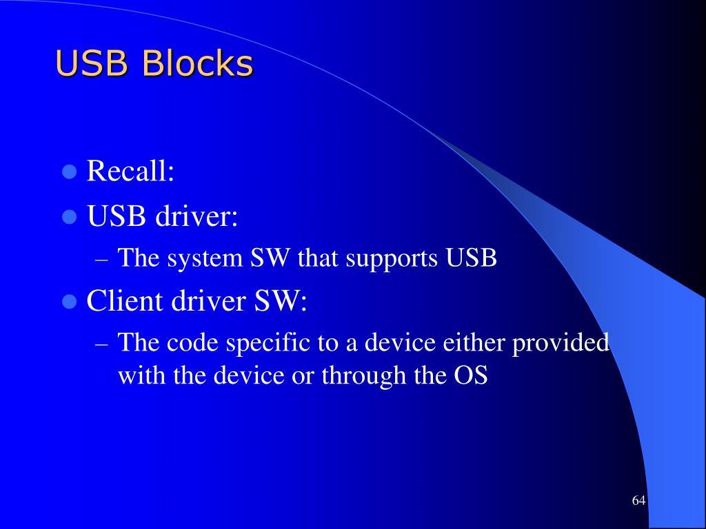 USB Blocks