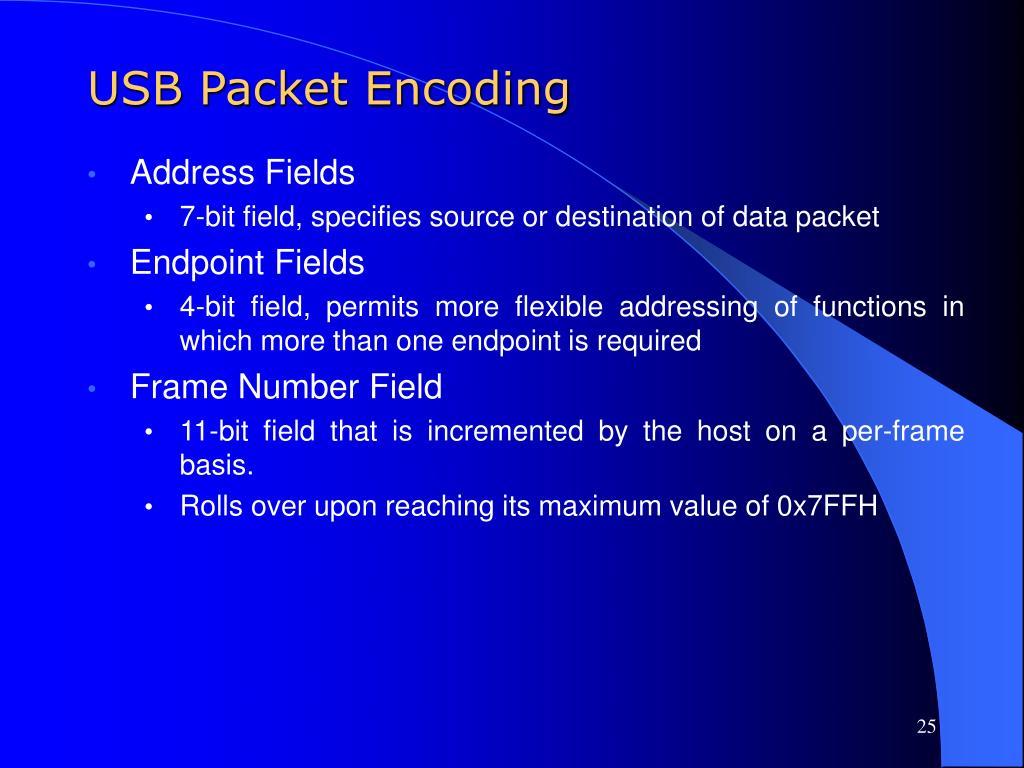 USB Packet Encoding
