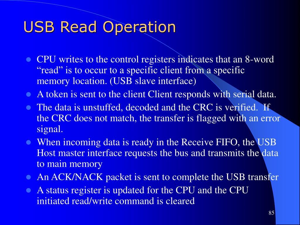 USB Read Operation