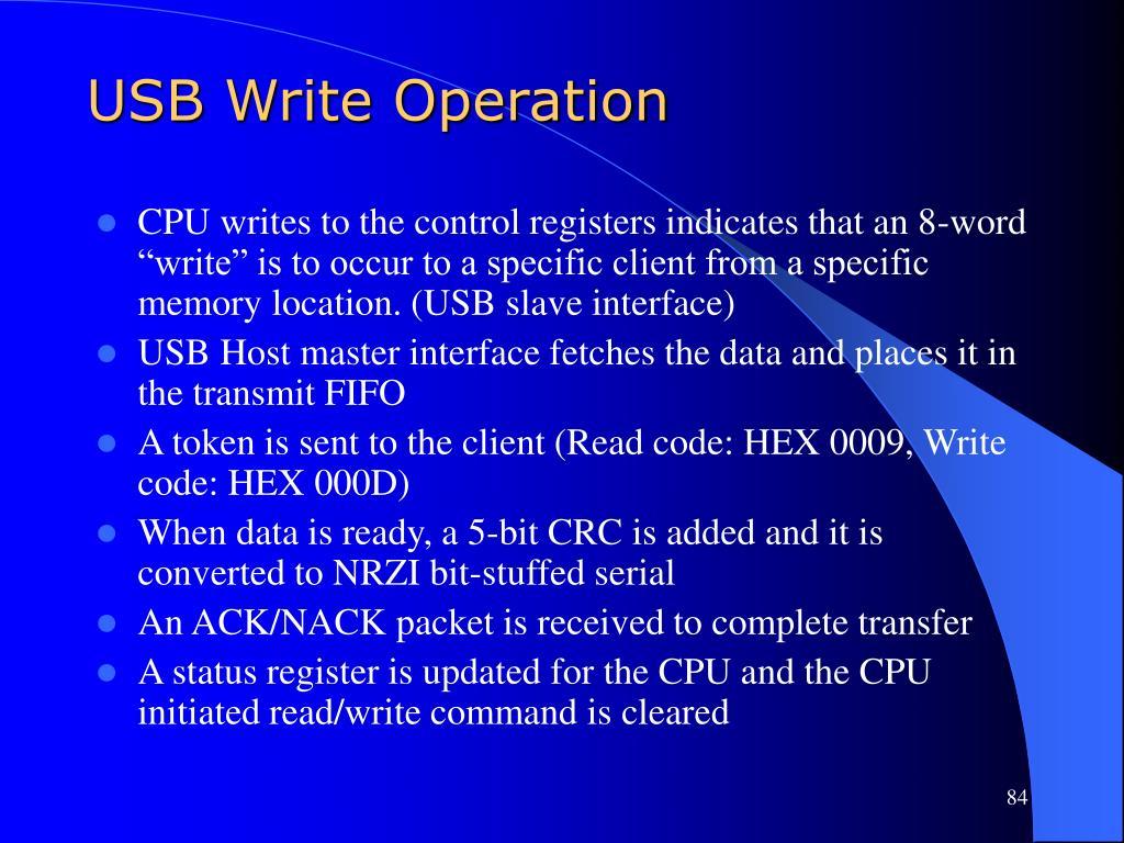 USB Write Operation