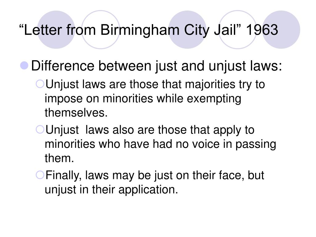 letter from birmingham jail an analysis