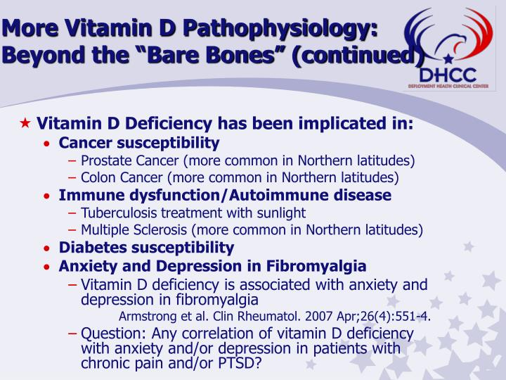 "More Vitamin D Pathophysiology:  Beyond the ""Bare Bones"" (continued)"