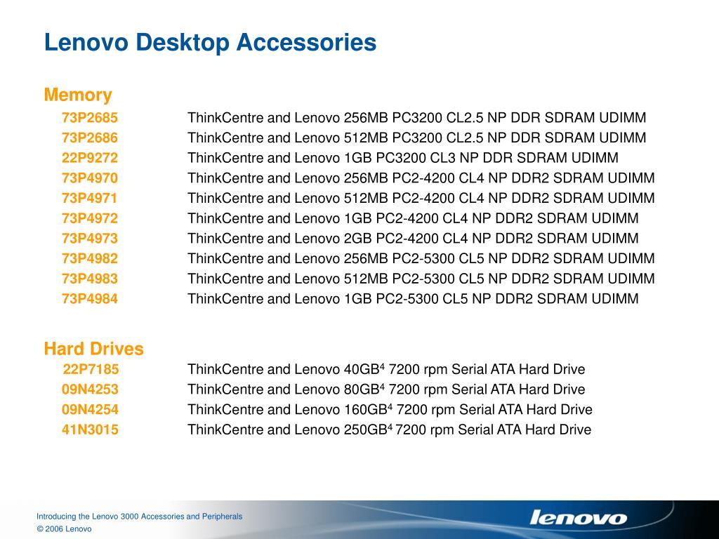 Lenovo Desktop Accessories