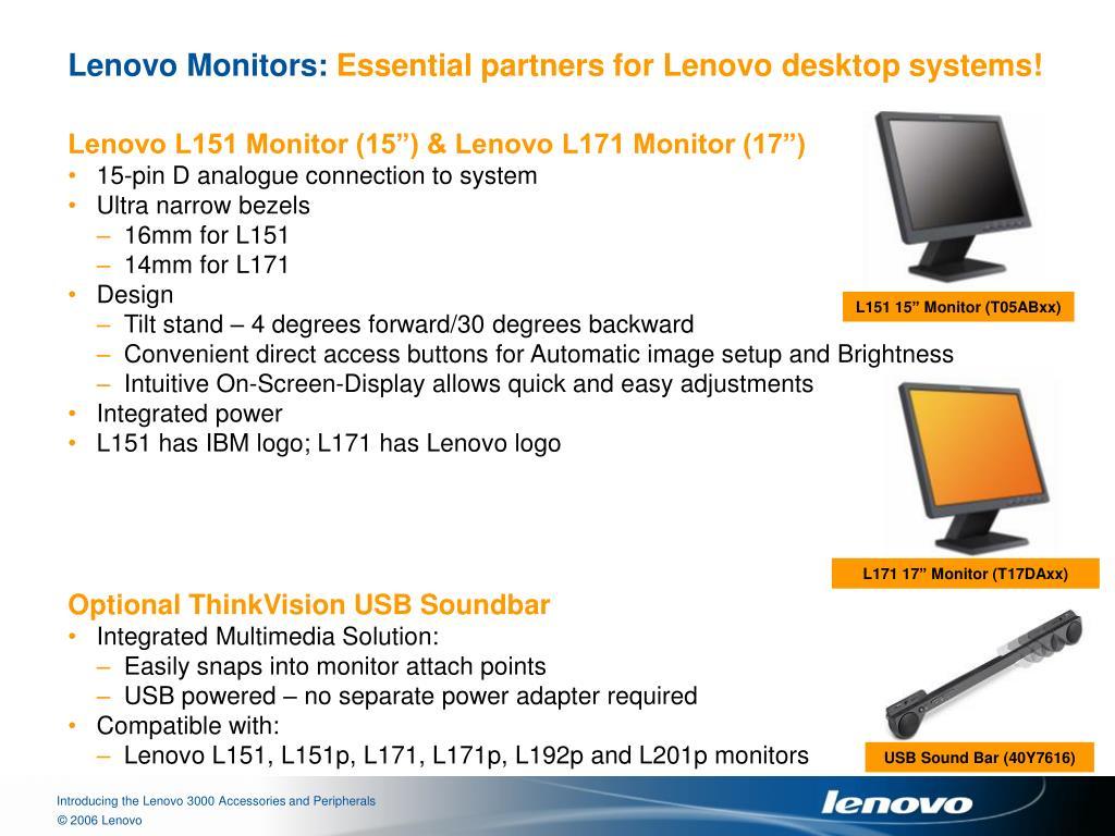 Lenovo Monitors: