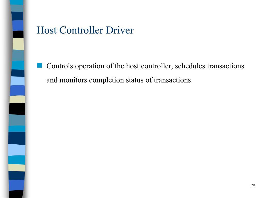 Host Controller Driver